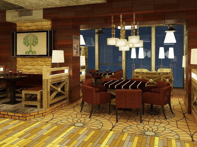 ресторан паб пивной сад киев консалтинг дизайн интерьера бара украина